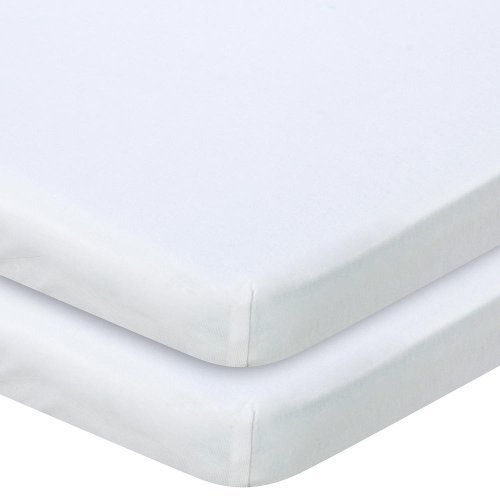 Babies R Us Knit Bassinet Sheet 2 Pack - White - 1
