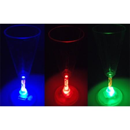 LED Lighted Wine Flutes - 2 per pack