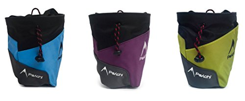 Psychi-Premium-Chalk-Bag-for-Bouldering-Rock-Climbing-with-Rear-Zip-Pocket-and-Waist-Belt