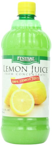 Festival Lemon juices, Concentrate Plastic Bottle, 32-Ounce (Pack of 12)