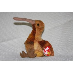 TY Beanie Babies Beak the Kiwi Bird Stuffed Animal Plush Toy - 6 inches tall - 1
