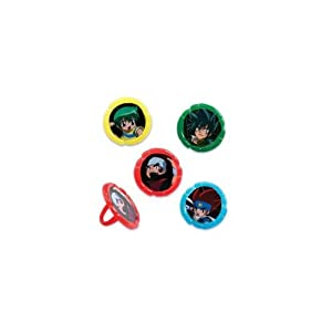 Amazon.com: 12 pack Beyblade Cupcake Topper Rings: Toys ...
