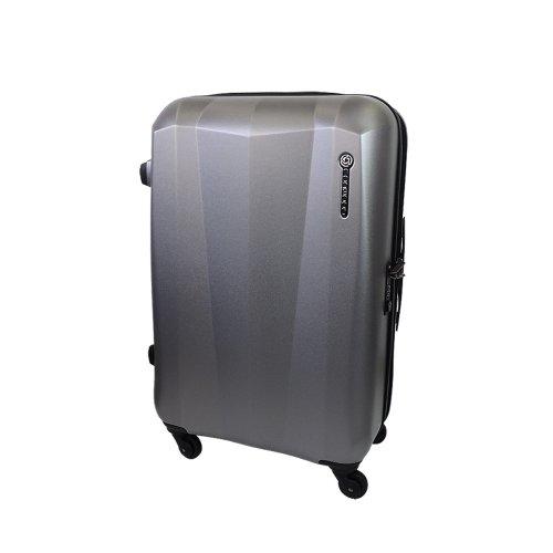 【 President 】スーツケース キズつきにくいシボエンボス加工 TSAロック搭載  【CONWOOD PC050ファスナー】3年保証 3COLOR 3サイズ【大型、中型、小型】 (3.小型 Sサイズ 30リットル, グレー)