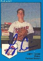 Larry Casian Portland Beavers - Twins Affiliate 1989 Pro Cards Autographed Hand... by Hall of Fame Memorabilia