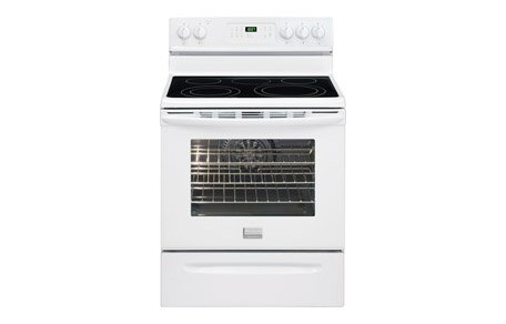 """Frigidaire Gallery Fgef3032Mw 30"""" Electric Range With 5 Radiant Elements, 5.7 Cu. Ft. Oven Capacity, Quick Bake Convection Oven, Self-Clean, Storage Drawer And Temperature Probe, In White"""