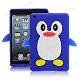 DARK BLUE NEW CUTE PENGUIN SOFT SILICONE CASE COVER POUCH FOR IPAD 2 3