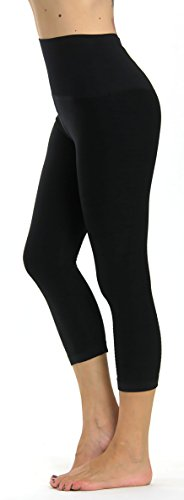 Prolific Health High Compression Women Pants Yoga Fitness Leggings (Large/X-Large, Black Capri)
