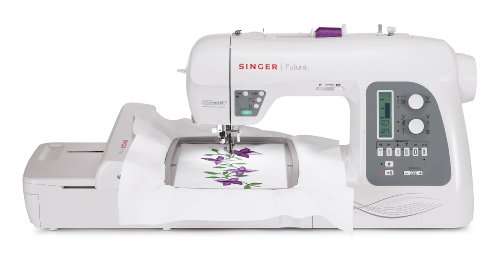 Read About SINGER Futura XL-550 215-Stitch Sewing and Embroidery Machine with Automatic Electronic T...