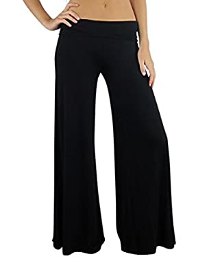 Free to Live Women's Wide Leg Boho Palazzo Gaucho Pants Made in USA