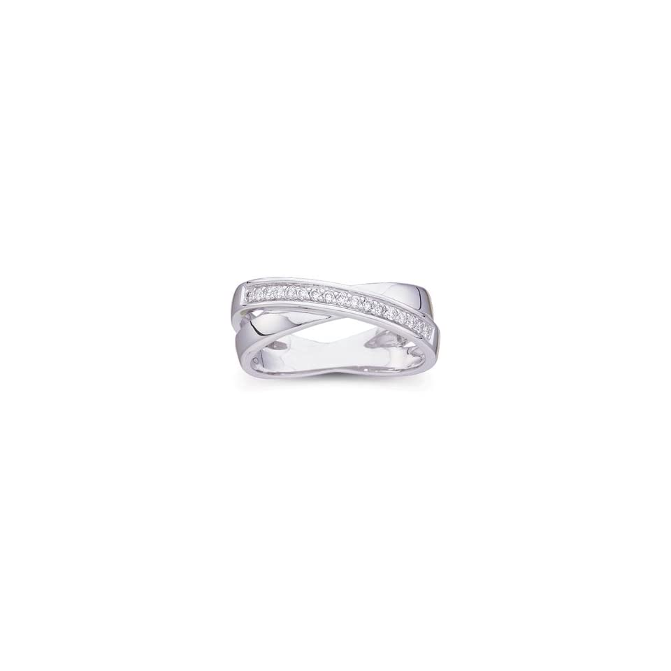 Size 07.00/ 1/6 CT TW 14K White Gold Diamond Ring