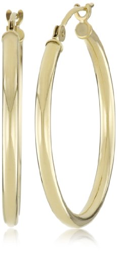 "Duragold 14k Gold Hoop Earrings (1"" Diameter)"