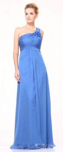 #7716 One Shoulder Chiffon Homecoming Bridesmaids Party Dress