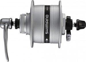 VR-Nabendynamo Shimano A-DH3D37 3W 100mm, 32 Loch, silber, Centerlock, SNSP EDH3D37BSG