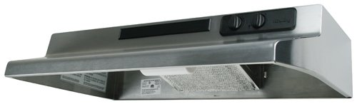 Air King DS1308 Designer Series Under Cabinet Range Hood, 30 Inch Wide, Stainless Steel