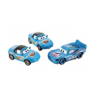 Picture of Mattel Disney / Pixar CARS Movie 1:55 Die Cast Car Race-O-Rama 3-Car Gift Pack Dinoco Mia, Dinoco Tia and Dinoco Lightning McQueen Figure (B001NQTR3Q) (Mattel Action Figures)