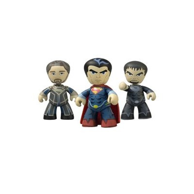Superman Man of Steel Movie Mini Mez-Itz Figure 3-Pack