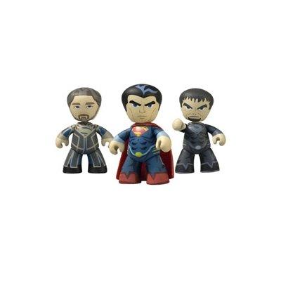Superman Man of Steel Movie Mini Mez-Itz Figure 3-Pack