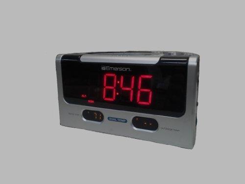 Emerson Smartset Dual Alarm Clock Radio With Temperature Sensors Cks9005 front-478794
