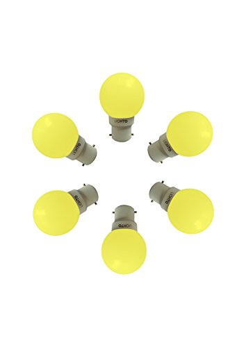 Vivos 0.5 Watt LED Bulb (Yellow, Pack of 6)