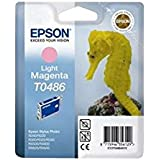 Epson T0486 - Print cartridge - 1 x light magenta - 430 pages - blister with RF alarm
