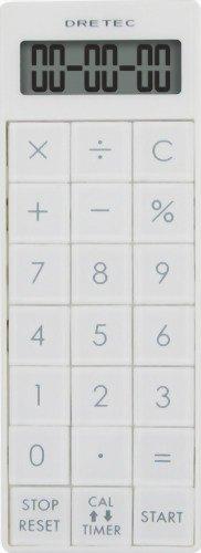 DRETEC 電卓付長時間タイマー 【最大セット時間 99時間99分99秒】 ホワイト CL-116WT