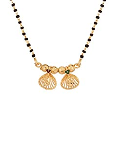 Voylla Single Chain Mangalsutra with Pret Maharastrian Wati; Gold Tone available at Amazon for Rs.150