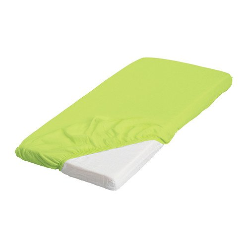 Green Fitted Crib Sheet front-1070890
