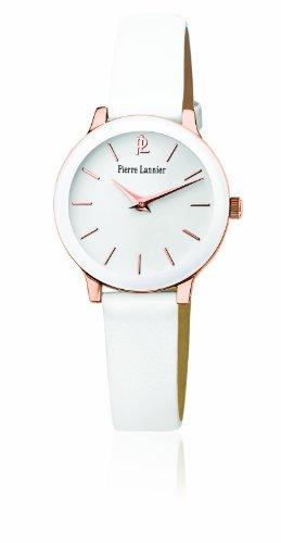 Pierre Lannier - 023K900 - Montre Femme - Quartz Analogique - Cadran Blanc - Bracelet Cuir Blanc