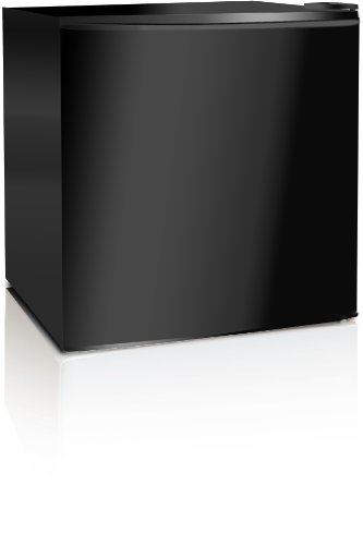 Midea Hs-65L Compact Single Reversible Door Refrigerator With Freezer, 1.7 Cubic Feet, Black