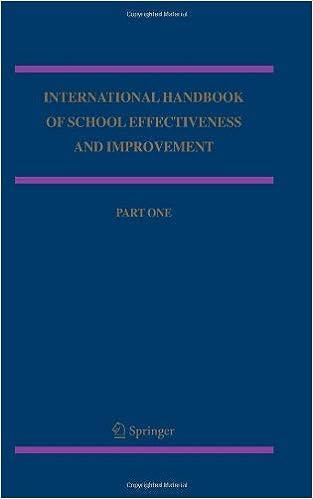 Book cover: international handbook of school effectiveness and improvement