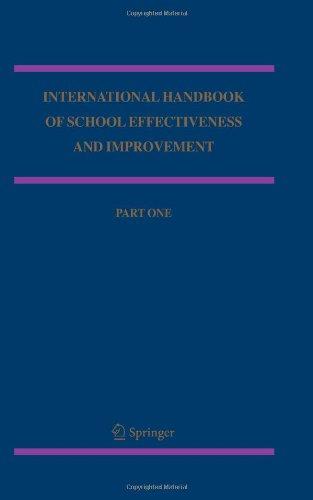 International Handbook of School Effectiveness and Improvement: Review, Reflection and Reframing (Springer International