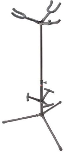 Stagg Sg-A300Hbk Triple Hanging Guitar Stand With Folding Legs, Tops And Back Rests - Black