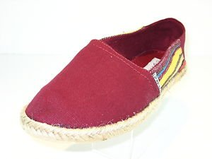 Dunlop Womens Red Canvas Espadrille Pump Plimsole Rope Sole