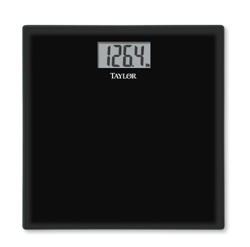Glass Digital Scale Blk