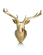 Golden Deer Head Wall Art