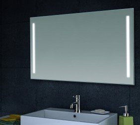 Specchio da parete bagno specchio illuminazione a LED, Alluminio, 60x100
