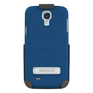 Seidio BD2-HR3SSGS4K-RB SURFACE with Metal Kickstand Case and Holster Combo for Samsung Galaxy S4 - Retail Packaging - Royal Blue