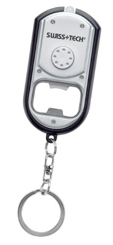 Swiss+Tech St33340 Key Chain Led Flashlight With Bottle Opener
