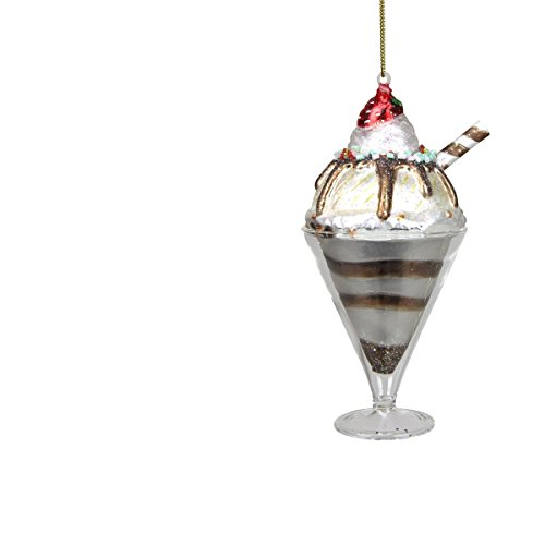 Chocolate Ice Cream Sundae Christmas Ornament