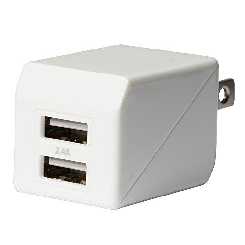 オウルテック 2年保証 ストロングAC充電器 2ポート 合計出力2.4A iPhone6s/6sPlus/6/6Plus/5s/iPad air2/mini4/Galaxy/Xperia等スマートフォン タブレットPC対応 ホワイト OWL-ACU2F24-WH