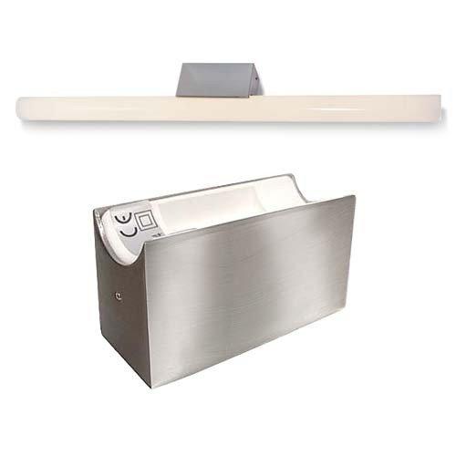 ALUTEC Spiegelleuchte Linestra Linienlampe 1x 35/60W Edelstahl Gebürstet