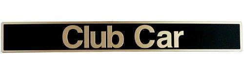 Club Car Precedent Golf Cart Name Plate Emblem Black / Gold