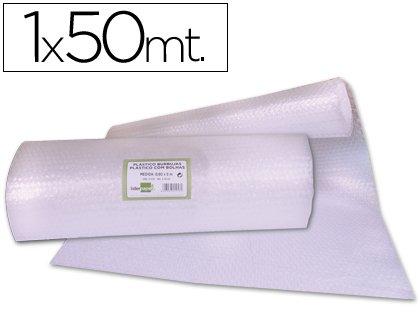 PLASTICO CON BURBUJAS EN ROLLO DE 1 X 50 M