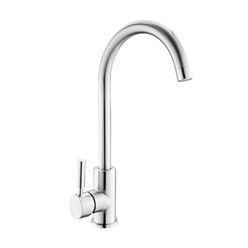 Review UFaucet Modern Kitchen Faucets Bar Sink Faucets Polished Chrome, Sink Faucets Single Handle 3...
