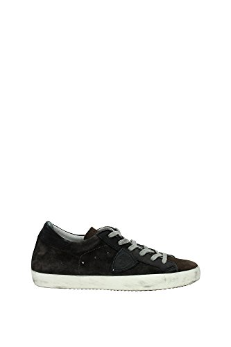 Sneakers Philippe Model Uomo Camoscio Marrone, Grigio e Nero CLLUXC07 Marrone 40EU