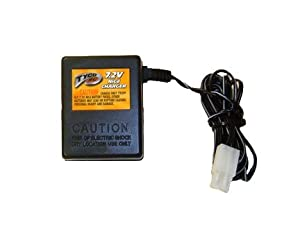 Tyco RC 7.2V NiCd Battery pack CHARGER for the following Tyco model rc vehicles using 7.2 volt batteries: B8925 Grave Digger, C4639 Batman, G4925 Suzuki GSX-R 1000, H3622 Drift Kings Mazda RX7, H3623 Drift Kings Nissan Silvia S15, J9862 & J9863 N.S.E.C.T. Vehicles. Not compatable with Tyco TMH Vehicles. by Tyco RC