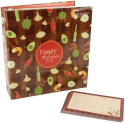 Mbi Family Recipes 3-Ring 5-Inch-by-7-Inch Scrapbook Kit, Recipe Cards