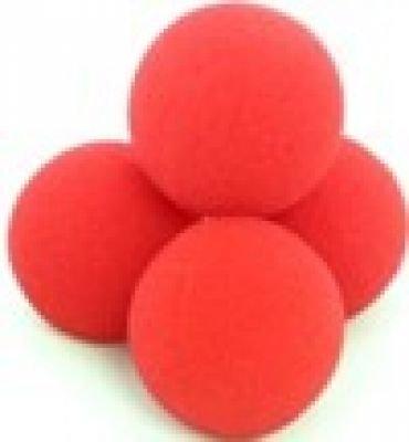 Palle di spugna, Super morbido (2 5,08 cm, colore: rosso