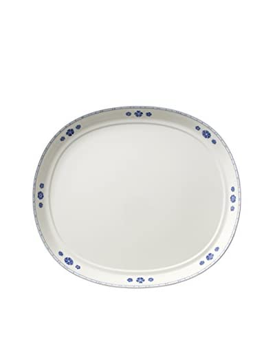 Villeroy & Boch Farmhouse Touch Blue Flowers Oval Serving Platter