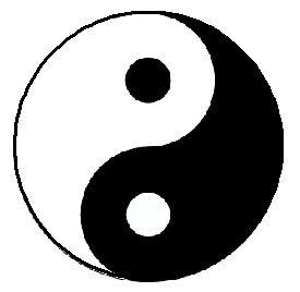 """Amazon.com: Yin Yang Sign 1.25"""" Pinback Button Badge / Pin"""